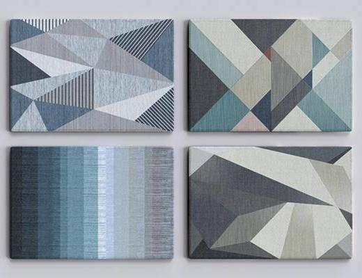 现代几何形状地毯
