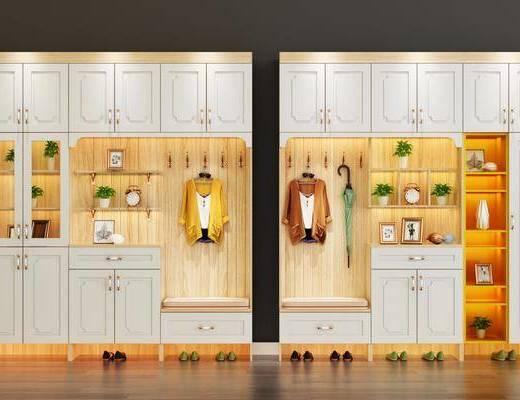 鞋柜, 北欧鞋柜, 摆件, 装饰品, 北欧