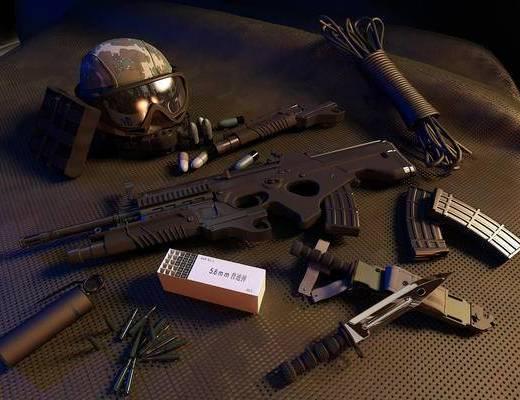 突击手装备, 防爆头盔, 子弹