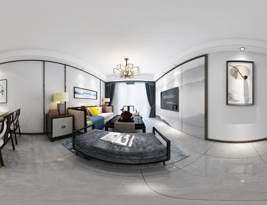 客厅, 中式客厅, 中式沙发, 沙发组合, 沙发茶几组合