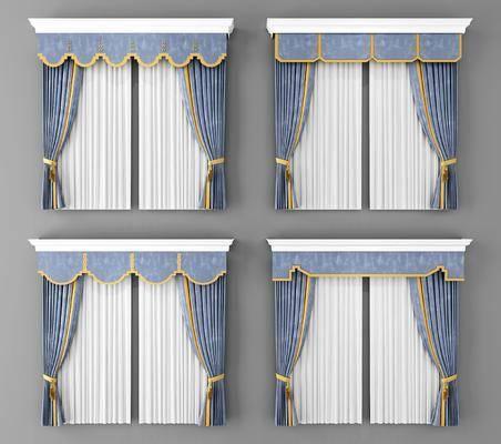 窗帘, 新中式窗帘, 新中式