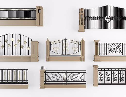 围栏, 栏杆