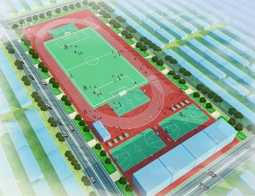 足球场, 运动场, 现代, 鸟瞰