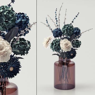 玻璃花瓶, 花瓶花卉, 现代