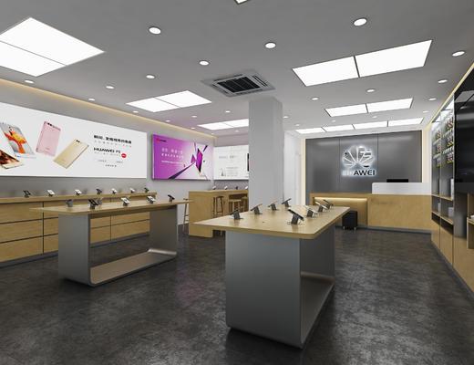 手机店, 展示桌, 手机支架