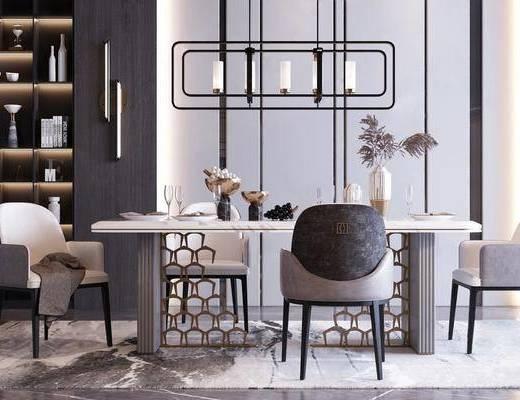 現代, 餐廳, 桌椅組合