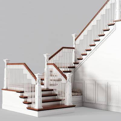 简欧楼梯, 实木楼梯, 储物间, 简欧, 楼梯