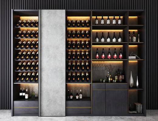 現代, 裝飾柜, 酒柜