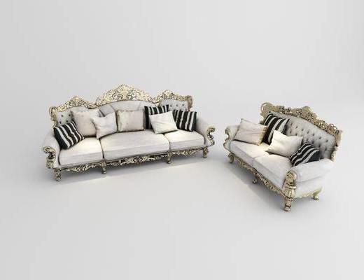 双人沙发, 多人沙发, 美式