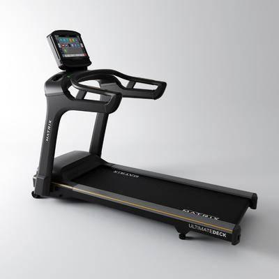 现代, 跑步机, 运动器械, 软装, 3D模型