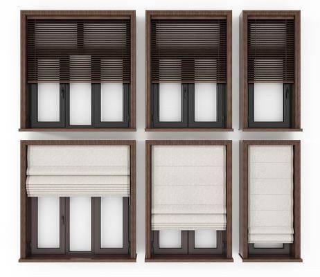 窗户, 现代窗户, 平开窗, 窗帘, 现代