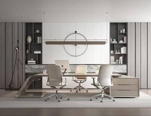 桌椅组合, 墙饰, 装饰柜, 落地灯
