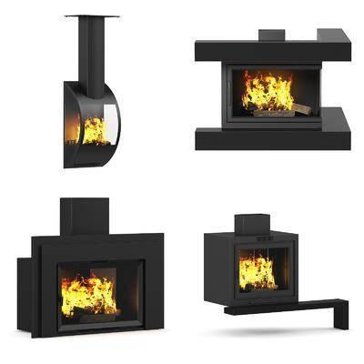 壁炉, 现代壁炉, 现代