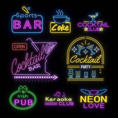 霓虹灯, 装饰灯, 酒吧墙饰, 现代