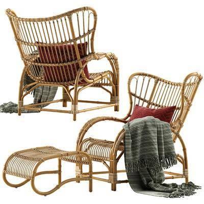 休闲编藤椅, 单人椅, 现代