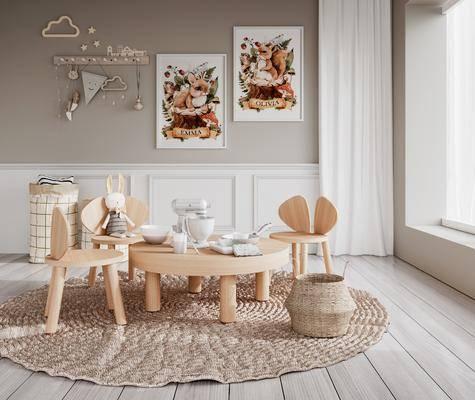 现代, 组合, 桌椅