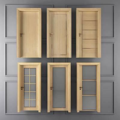 门, 单门, 枫叶门, 门构件, 现代门, 木门