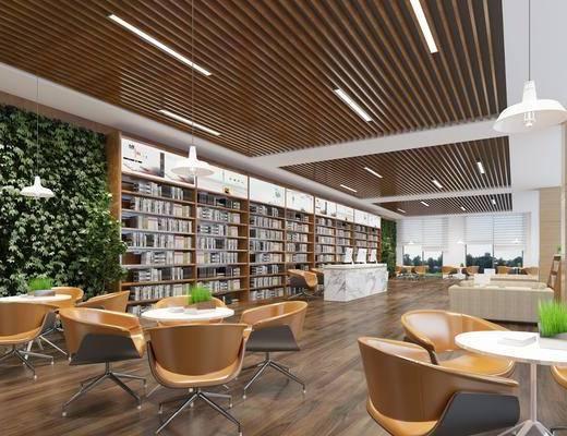 現代圖書館, 圖書館, 閱覽室