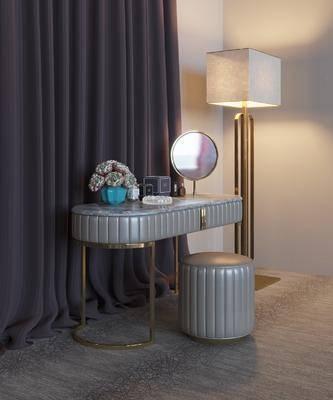 梳妝臺, 地燈, 梳妝柜, 現代