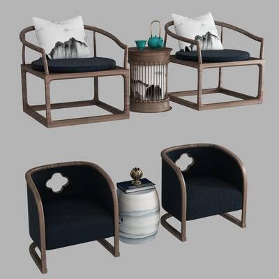 新中式座椅, 新中式桌椅, 新中式休闲椅, 新中式休闲桌椅, 新中式, 椅子