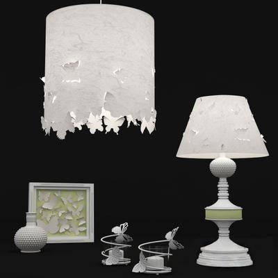 台灯, 吊灯, 摆件, 现代