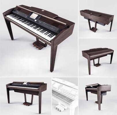 钢琴, 复古钢琴, 现代