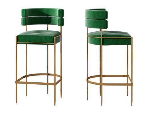 现代金属吧台椅