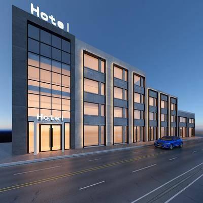 酒店, 门面, 门头
