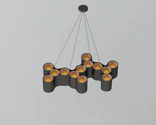 现代吊灯, 现代, 金属吊灯, 吊灯
