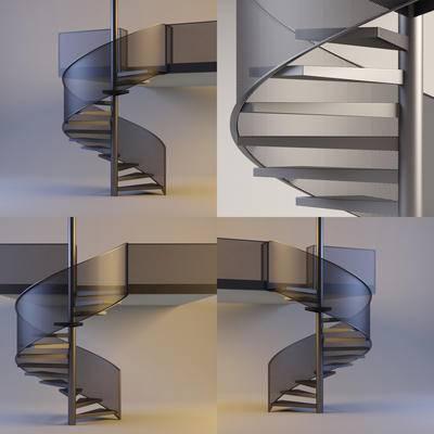 现代旋转楼梯, 旋转楼梯, 现代, 楼梯