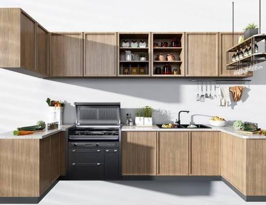 廚房廚柜, 廚房用品, 廚具, 櫥柜組合, 現代