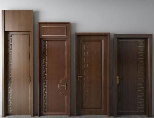 房门, 平开门, 新中式实木门
