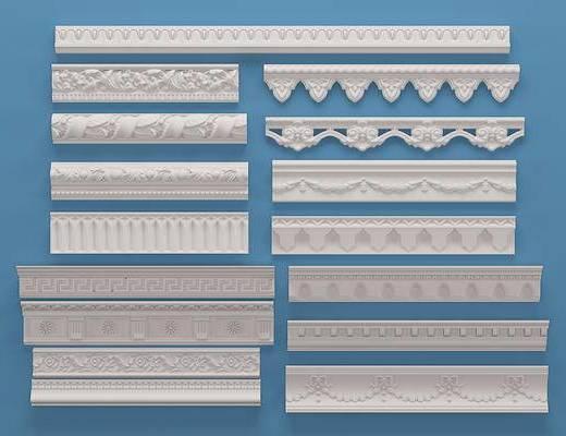 欧式石膏角线, 构件, 线条
