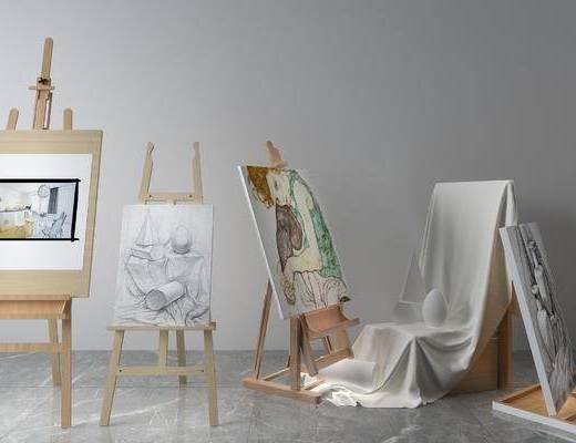 花架, 石膏体, 画板