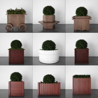 花槽, 花车, 花架, 花盆, 花坛