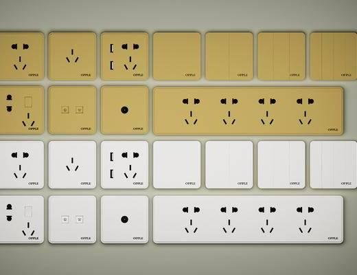 开关插座, 插板组合, 现代