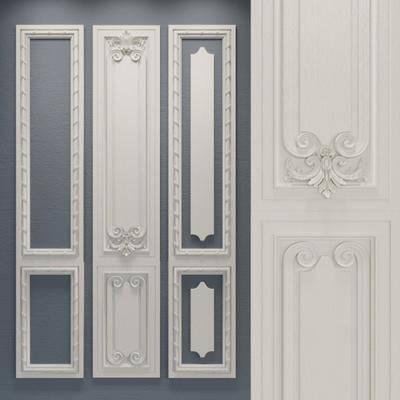 护墙板, 雕花, 构件组合, 构件, 欧式护墙板, 欧式