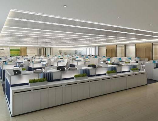 现代办公室, 办公区, 办公室, 办公桌椅, 会议室, 会议桌, 办公椅