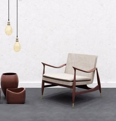 单椅, 现代单椅, 椅子, 吊灯