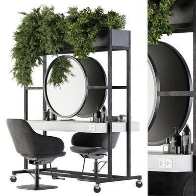 现代理发店桌椅组合