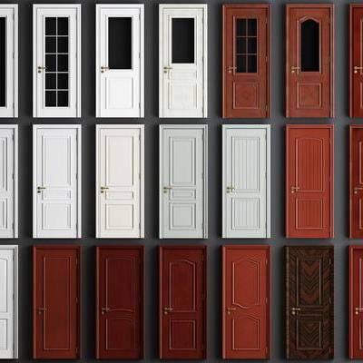 简欧木门, 木门组合, 构件, 门窗