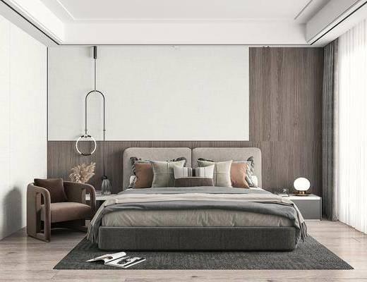 卧室, 家装, 现代