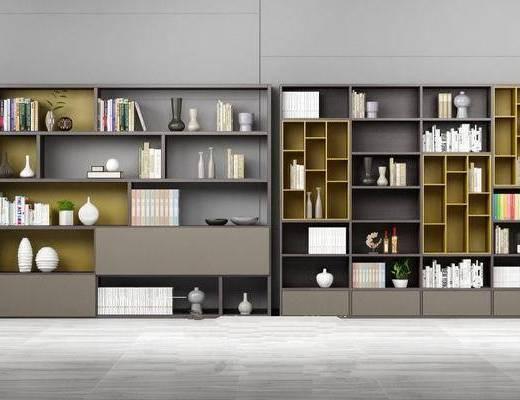 北欧书柜, 书架, 边柜, 板式边柜