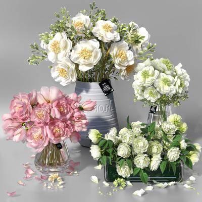 花束花瓶, 花瓶组合, 现代