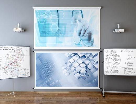 现代, 白板, 投影仪