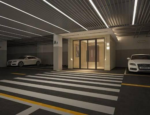 地下室, 入户通道, 停车场