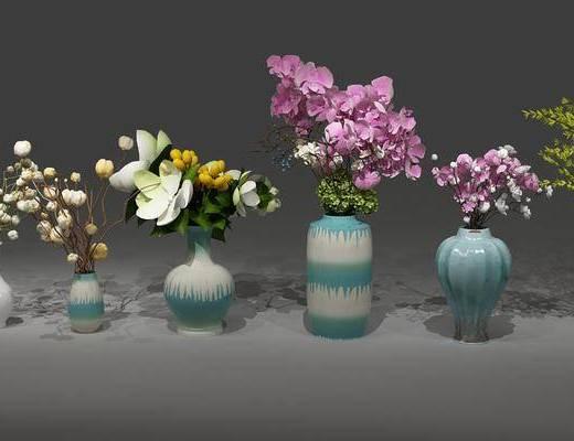 花瓶, 植物, 花卉