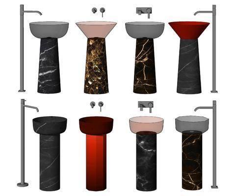 现代, 洗手盆, 单体