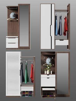 现代衣柜, 衣柜, 鞋柜