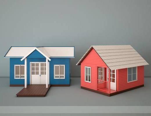 木屋, 别墅, 现代